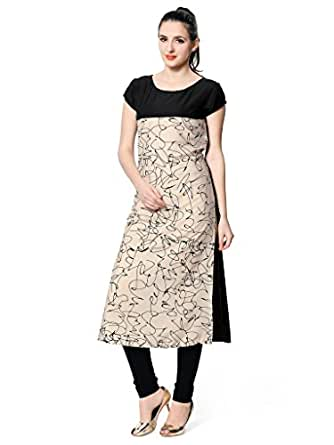 Vaamsi Crepe Digital Printed Kurti(VPK1265_Muti-Coloured_XXL)