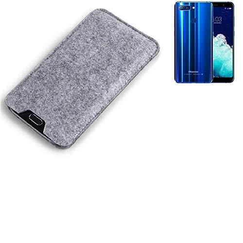 K-S-Trade Filz Schutz Hülle für Hisense Infinity H11 Pro Schutzhülle Filztasche Filz Tasche Case Sleeve Handyhülle Filzhülle grau