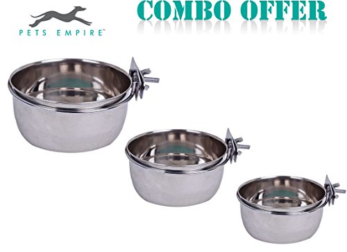 Pets-Empire-Best-Stainless-Steel-Birds-Coop-Cup-Feeder-Bowl-with-Clamp-Holder-Combo-Offer-500-ml-Pack-of-3