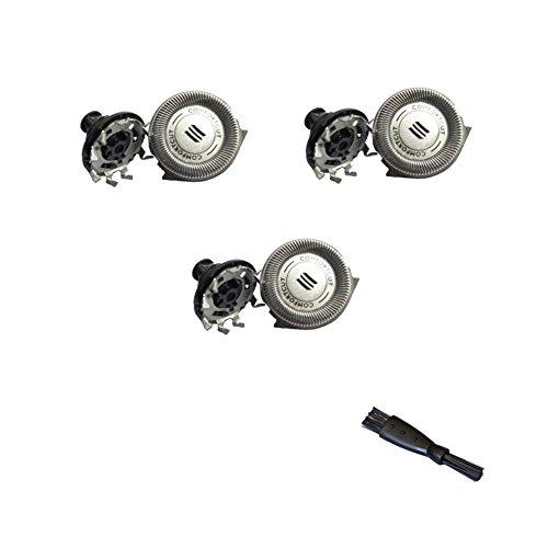 Jiaggo 3 Scherkopf, Ersatzscherköpfe RQ32 für Philips RQ1175 RQ1187 RQ1155 RQ1150 RQ1195 RQ11 Serie Rasierer YS521 YS534 mit Bürste