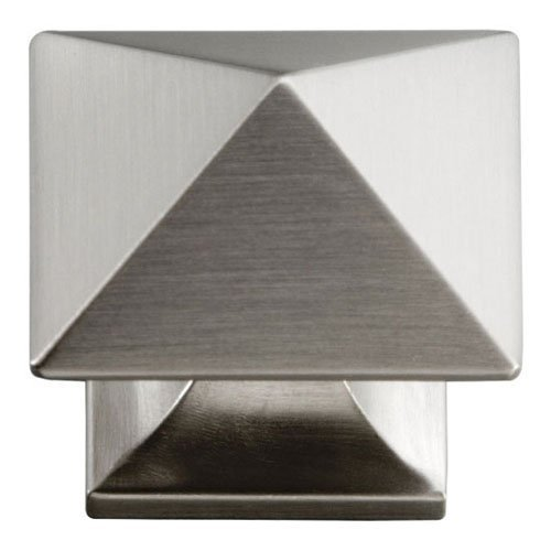 Hickory Hardware P3015-SN 1-1/4-Inch Square Studio Collection Cabinet Knob, Satin Nickel by Hickory Hardware - Collection Satin Nickel Cabinet Knob