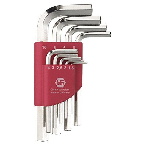 hafu Jeu de clé Allen hexagonale ISO2936 Taille 1,5-10 mm, 9 pièces, 1 pièce, 238-190-02
