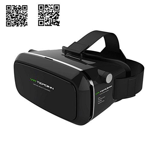 tepoinn 3D VR Brille, 3D VR Headset Virtual Reality Box mit verstellbare Linse und Strap für iPhone 55S 6Plus Samsung S3Edge Note 4und 8,9–14cm Smartphone für 3D Filme und Spiele Galaxy S3 3d Fall Tragen