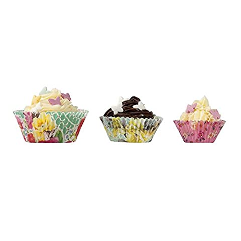 Talking Tables Truly Scrumptious Floral Cupcake Cases for a Tea Party or Birthday, Multicolor (60 Pack)