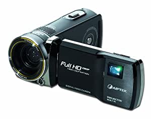Aiptek ProjectorCam C25 Full HD Camcorder (1920 x 1080 Pixel, 10X opt. Zoom, 7,6 cm (3 Zoll) Touch- LCD Display) mit DLP-Projektor (640 x 360 Pixel, Kontrast 1000:1, 25 ANSI Lumen)