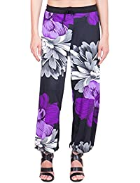 Adonia Floral Print Polyester Women's Harem Pants