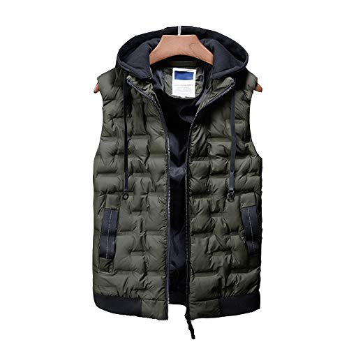 41IXykx2wsL. SS500  - DZX Men's Electric Warm Gilet/Heating Vest,with USB Cable - For Outdoor Travel Work Camping Bike And Skiing,Black-2XL