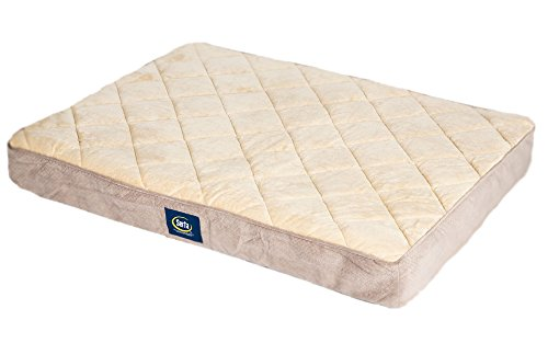 serta-orthopedic-quitted-pillowtop-dog-bed-large-tan