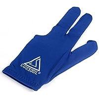 CUESOUL 10pcs / Set 3 Finger Gloves Biliardo Snooker Cue Guanti (Blu)