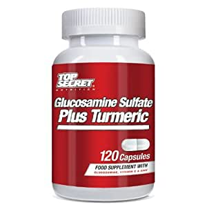 Top Secret Nutrition Glucosamine Sulphate Plus Turmeric - Pack of 120 Capsules