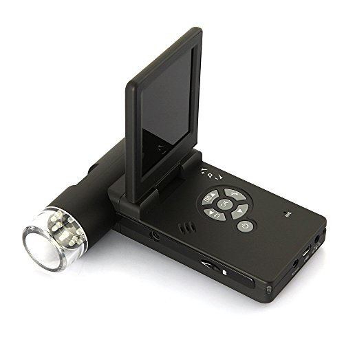 Emebay–500X Taschenmikroskop, tragbar, USB + LCD-Display 7,6cm (3Zoll)–Digitales Mikroskop, Camcorder, digitales Mikroskop, tragbar und faltbar + Micro-SD-Anschluss, Foto- und Videospeicher