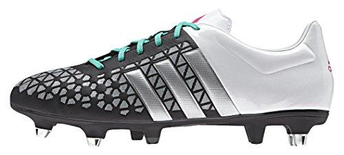 adidas Ace 15.3 Sg, Scarpe da Calcio Uomo Multicolore (Core Black/Matte Silver/Ftwr White)