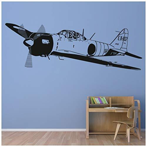 azutura Weltkrieg 2 Jet Armee Flugzeug Wandtattoo verfügbar in 5 Größen und 25 Farben Leder Braun -