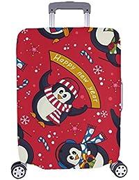2c03497c2 Cute Navidad Caramelos pingüinos sin Patron Patron Spandex Trolley Case  Viaje Equipaje Maleta de 28,
