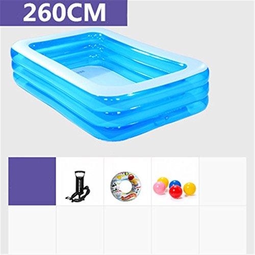 CHENHUAVerdicken Umweltfreundliche PVC Baby Kinder Baden und Schwimmen Gefalteter aufblasbarer Quadratischer Großer Familien-Pool-Ball-Pool 260 * 170 * 55cm für in 3 Jahren Alt