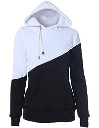 HENGSONG Hiver Femme Sorts Couleur Sweatshirt Sweats à Capuche Veste Tops Pull Pullover Hoodie
