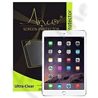 'Anco Premium Ultra Clear Screen Protector for Apple iPad Mini 3–Realistic Look and High Strength–Contents: 1x Screen Protector and Polishing Cloth