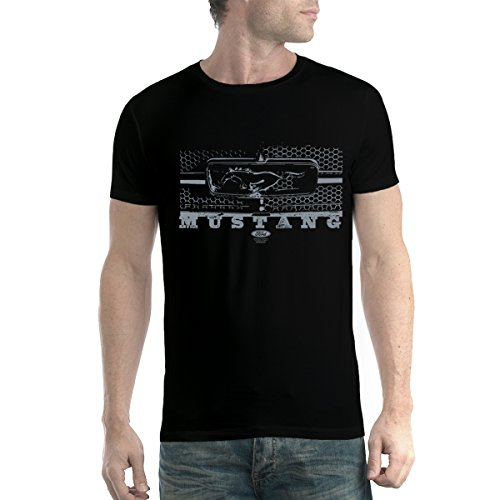 Ford Mustang Grillage Homme T-Shirt Noir XL