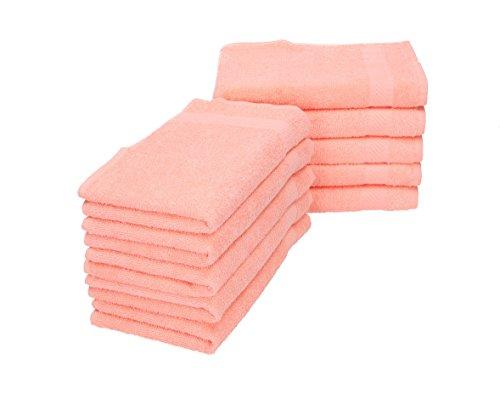 Betz 10 lavette salvietta asciugamano per il bidet palermo 100% cotone misure 30 x 30 cm diversi colori color albicocca