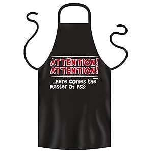 Super Baumwollschürze in schwarz : ATTENTION! Master of PS3 ! von Goodman Design