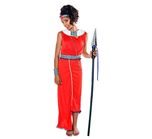 Imagen de disfraz de guerrera masai para mujer