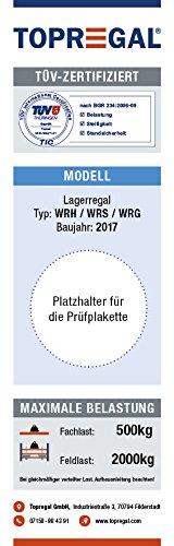 Lagerregal Schwerlastregal 6,9m breit, 2m hoch, 80cm tief, 4 Ebenen mit Holzböden – Weitspannregal Industrieregal - 6