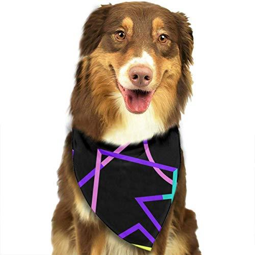 Osmykqe Art Fashion Soft Comforable Dog Cats Bandana Bunter Designer-Welpen-Lätzchen-Kopftuch (Dog Name Tag-camo)