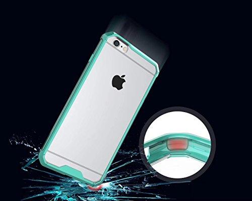 Hülle für iPhone 6 Plus 5,5 Zoll Silikon,Sunrive Handyhülle transparente Schutzhülle [Air Cushion TPU] Bumper Etui Case Backcover (transparent)+Gratis Universal Eingabestift Gras grün