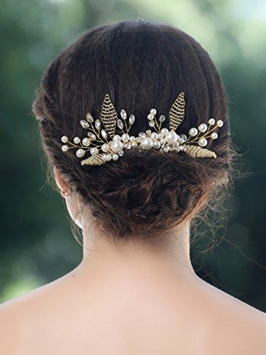 Braut Geld-beutel (jovono Hochzeit Brautschmuck Haarkamm Strassbesatz für Braut oder Brautjungfern)