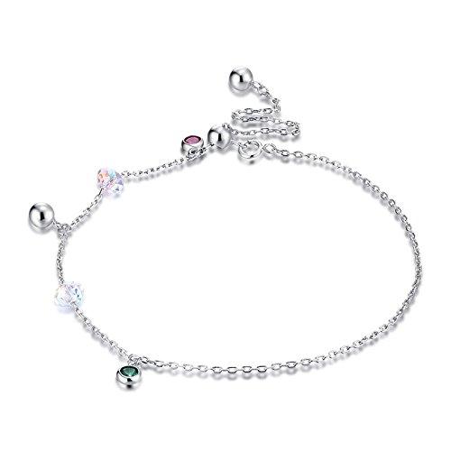 Daesar Fussketten Silber 925 Boho Damen Fußketten Silber Vintage