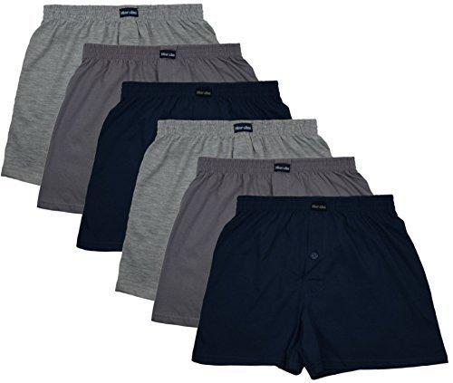 MioRalini 6 Herren Boxershorts in klassischen Farben 100% Baumwolle ohne Seitennaht Seamless Grösse 5 -10 (2XL-8, Set03) (Klassische Baumwolle)