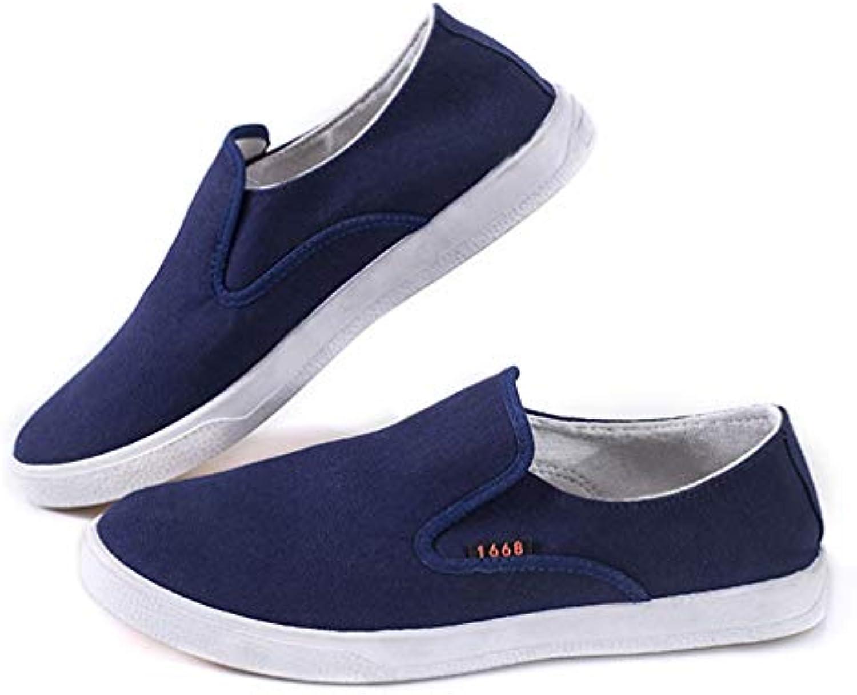 Calzado de Hombre Moda Zapatos de Lona Transpirable Zapatos Planos Conducir Mocasines Negocios Zapatos de Tela...