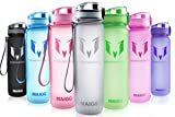 MAIGG Best Sports Water Bottle- 32oz - Eco Friendly & BPA-Free Plastic - For Running, Gym, Yoga, Outdoors and Camping - Fast Water Flow, Flip Top, Opens With 1-Click - Reusable with Leak-proof Lid (1000ml)