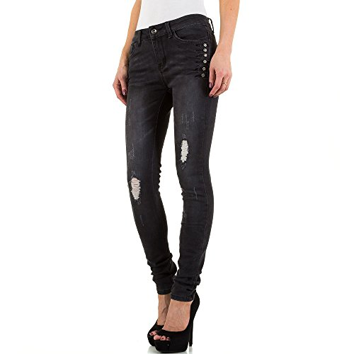 iTaL-dESiGn - Jeans - Skinny - Femme Noir