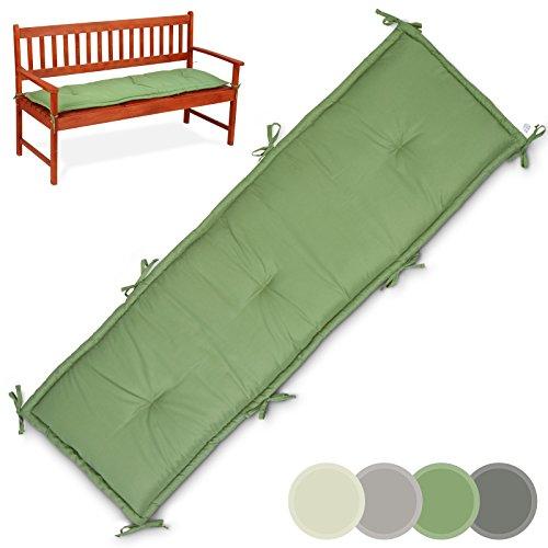 Miadomodo Sitzkissen für Gartenbank Bankpolster Bankauflage Polsterkissen Farb-/Größen-/Setwahl (1-er Set Größe L, Olivgrün)
