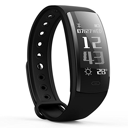 BJESSENCE 1PC QS90 Smart Wrist Band Bluetooth Smart Watch IP67 Waterproof Smart Bracelet Heart Rate Monitor Sport Fitness Tracker Sleep Monitor for Android / iOS