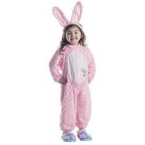 Dress Up America Niños Felpa Energizante Conejito Easter Rosado Disfraz