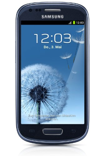 Samsung Galaxy S3 mini I8190 Smartphone (10,2 cm (4 Zoll) Super AMOLED Display, 8GB interne Speicher, 5 Megapixel Kamera, WiFi, NFC, Android 4.1) pebble-blue Samsung Smartphone Wifi
