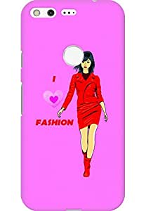 AMEZ designer printed 3d premium high quality back case cover for Google Pixel (Color sketch of a beautiful fashion young asian girl)
