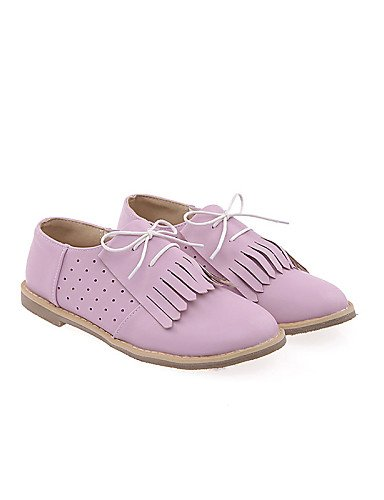 ZQ Scarpe Donna - Stringate - Casual - Punta arrotondata - Piatto - Finta pelle - Blu / Viola / Bianco , purple-us10.5 / eu42 / uk8.5 / cn43 , purple-us10.5 / eu42 / uk8.5 / cn43 white-us6.5-7 / eu37 / uk4.5-5 / cn37