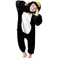 Minetom Unisexo Adulto Anime Unicornio Kigurumi Pijamas Traje Disfraz de Halloween Niños Animal Ropa de Dormir Carnaval Cosplay Pingüino 2XL (135-145CM)