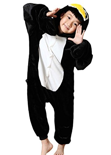 Kostüme Halloween Agnes (Minetom Kinder Einhorn Karikatur Tier Pyjama Halloween Karneval Fasching Kostüm Unisex Erwachsene Schlafanzug Jumpsuit Cosplay Pinguin)