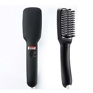 Euph 2 in 1 PTC Heating and Ionic Hair Straightener Brush (Black)