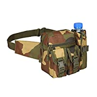 YOOOP Waist Packmen Waist Bag Tactical Waist Pack with Water Bottle Holder Waterproof Belt Bag
