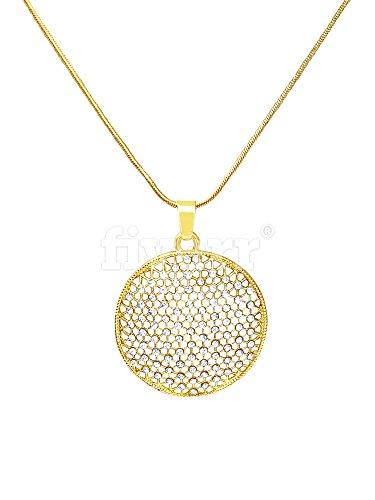 neuesten Design in Kostüm Schmuck–Gold Halskette mit CZ (Cubic Zirkonia Steine), perfekte Geschenk für (Schmuck Cz Kostüme)
