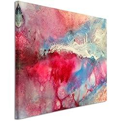XXL Fotoleinwand 120x80cm Handgemaltes buntes Aquarell auf Leinwand exklusives Wandbild moderne Fotografie für ihre Wand in vielen Größen