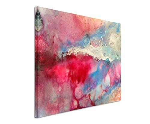 fotoleinwand 120 x 80 XXL Fotoleinwand 120x80cm Handgemaltes buntes Aquarell auf Leinwand exklusives Wandbild moderne Fotografie für ihre Wand in vielen Größen