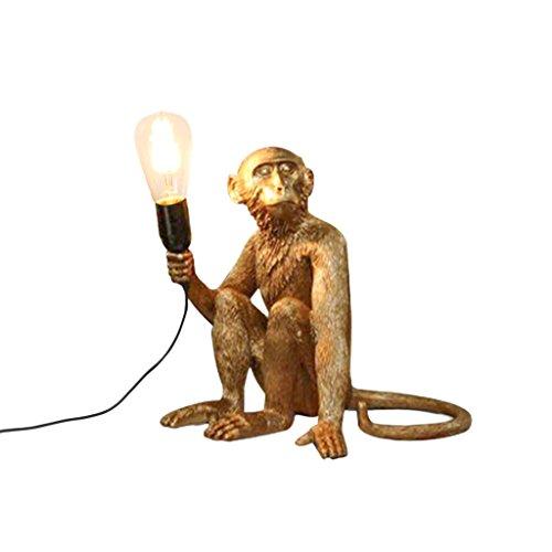 ZWD Animal Lustre, Creative Golden Restaurant Magasin de Vêtements Résine Décoration Lustre Chanvre Corde Lustre Mur Lampe de Table Lampe de Plancher Luminaire (Couleur : C)