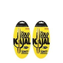 Maybelline colossal Kajal Balck 0.35gm (Pack of 2)