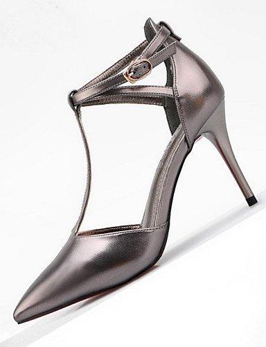 WSS 2016 Chaussures Femme-Mariage / Habillé / Décontracté-Multi-couleur-Talon Aiguille-Talons / Bout Pointu / Bout Fermé-Talons-Cuir black-us5 / eu35 / uk3 / cn34